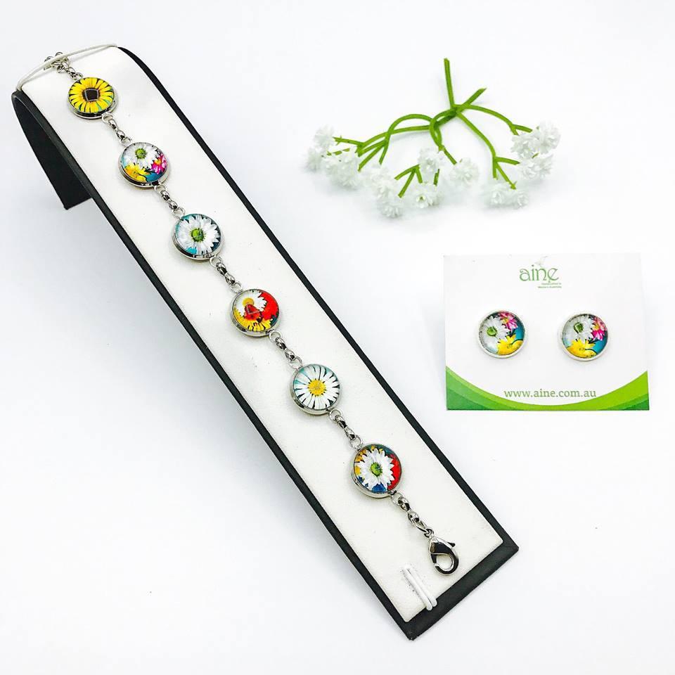 Glass cabochon Bracelet