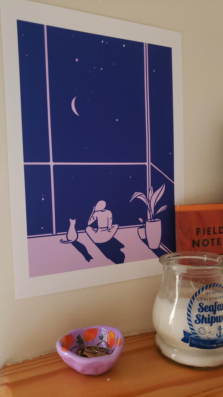Quiet Contemplation and a Starry Night Print