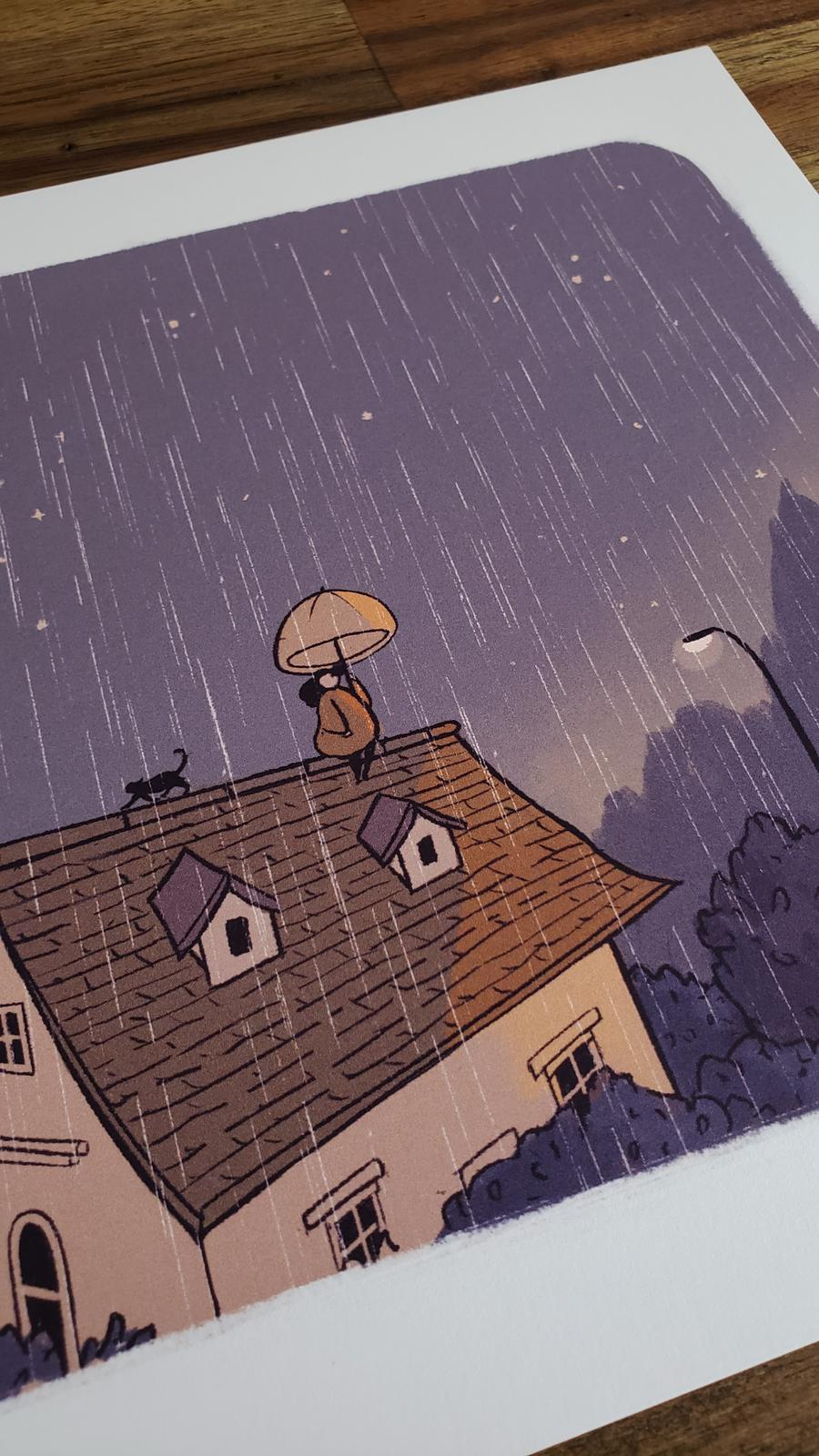 Rain at Golden Hour Print