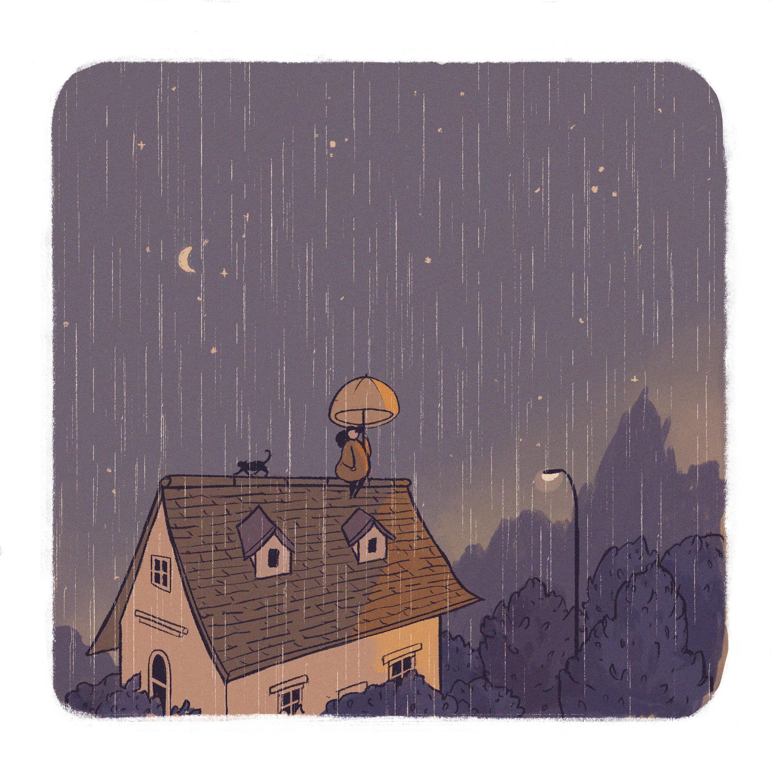 Rain at Golden Hour
