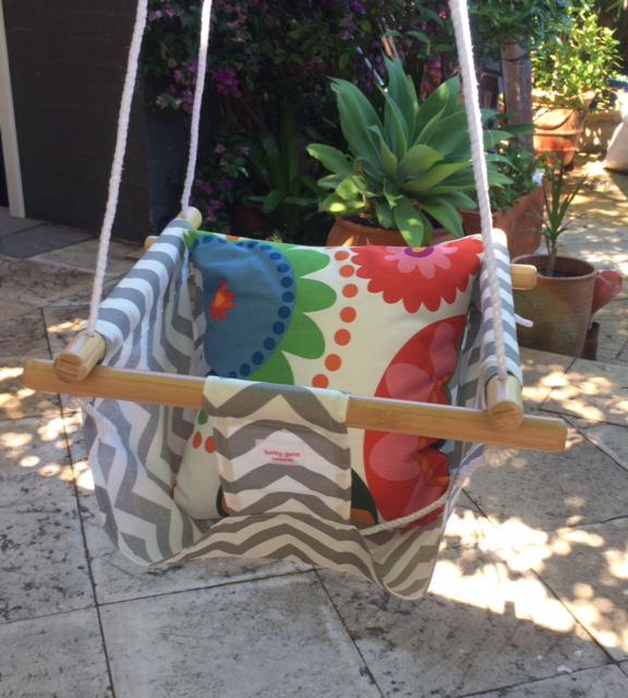 Baby swing. Can be used from about 6 mths with the use of the cushion.