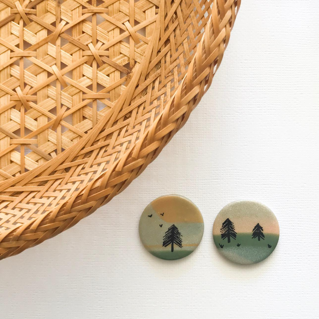 Hand-painted statement studs