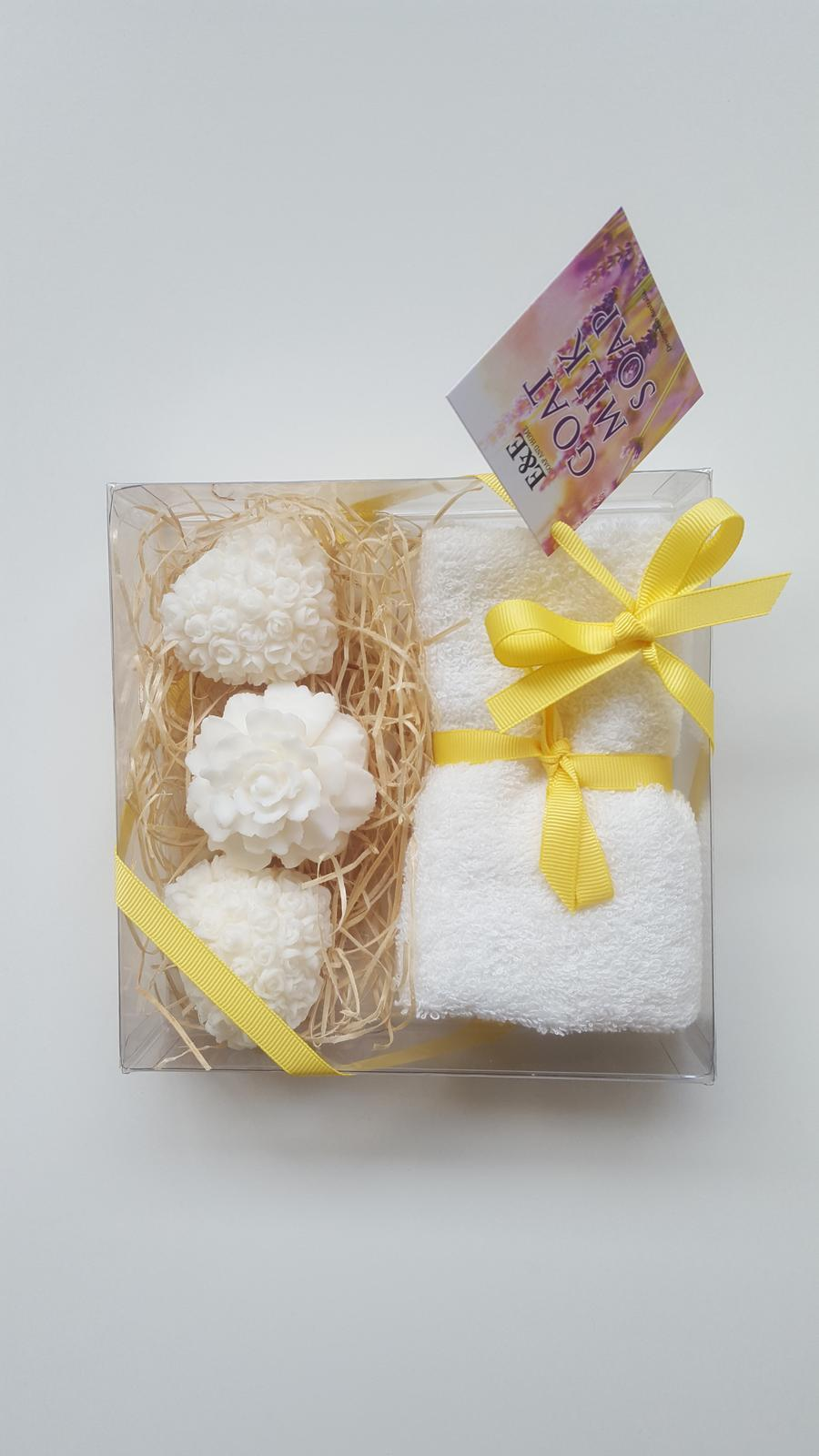 Soap and towel gift set