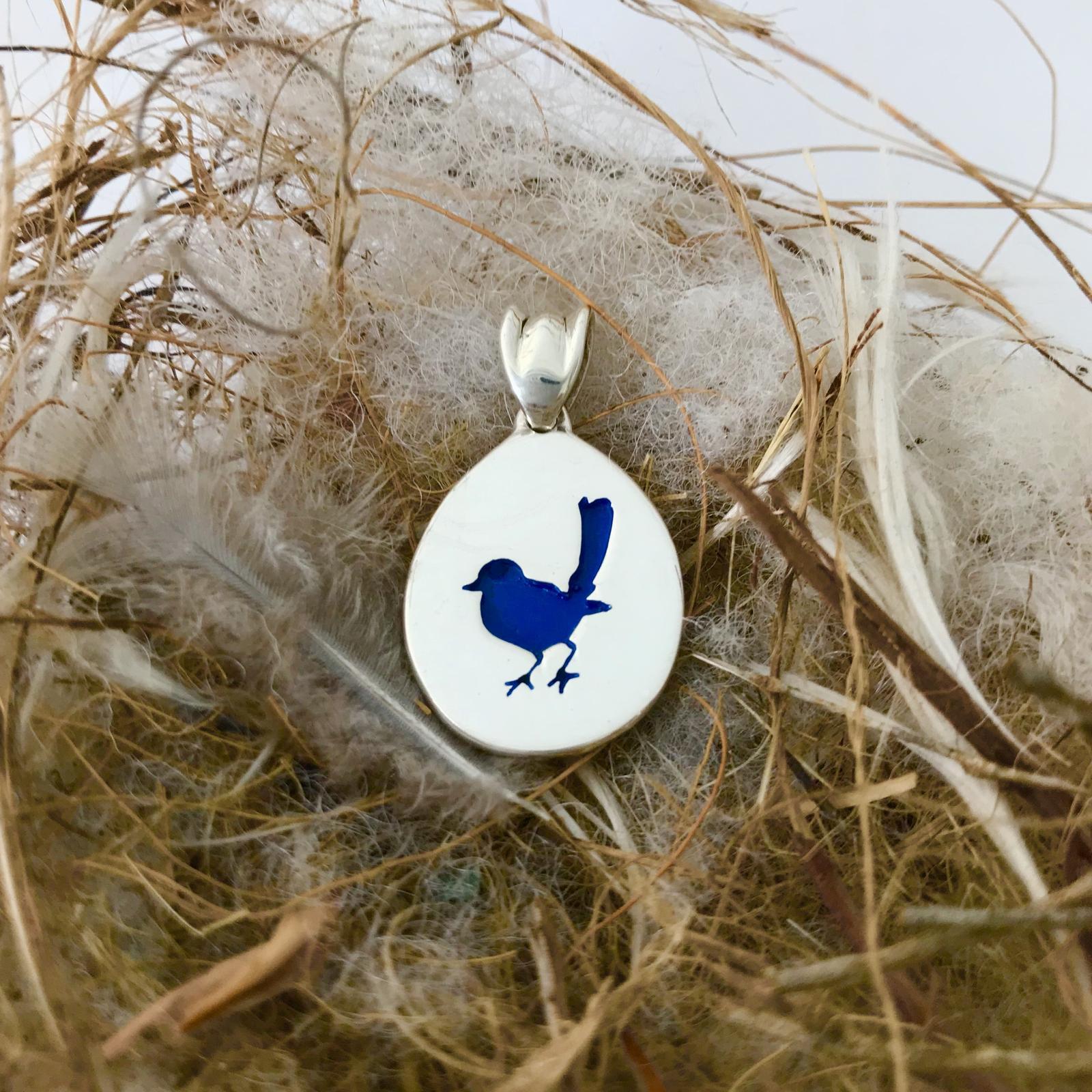 Blue Wren Pendant