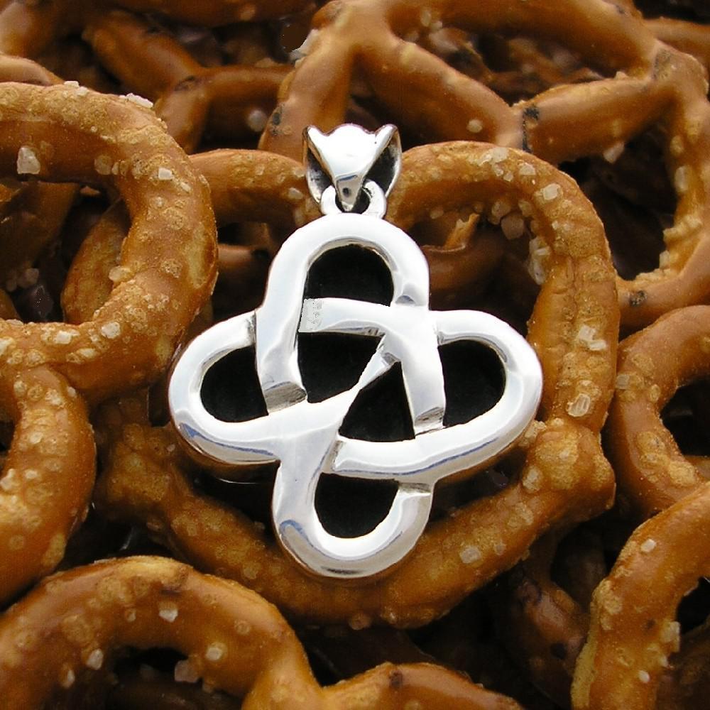 Silver Love Pretzel Pendant