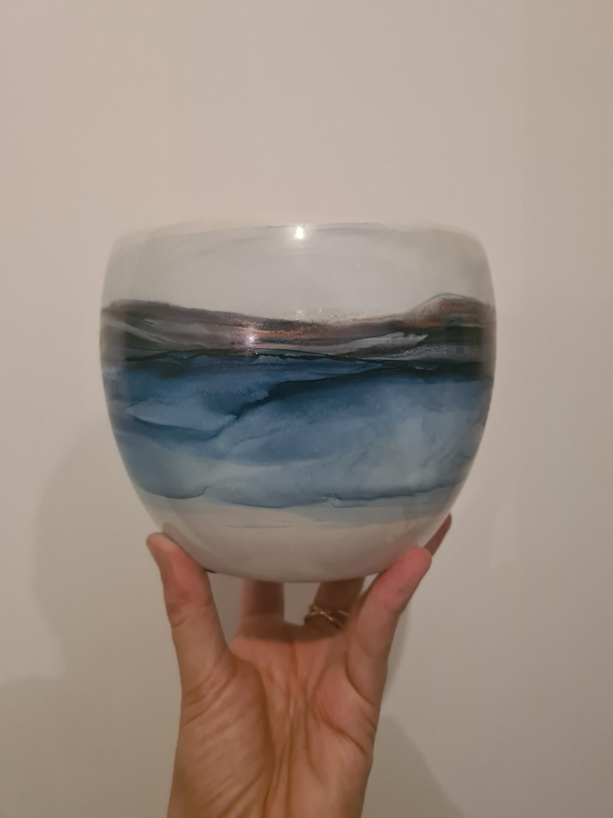 Blues - hand painted planter