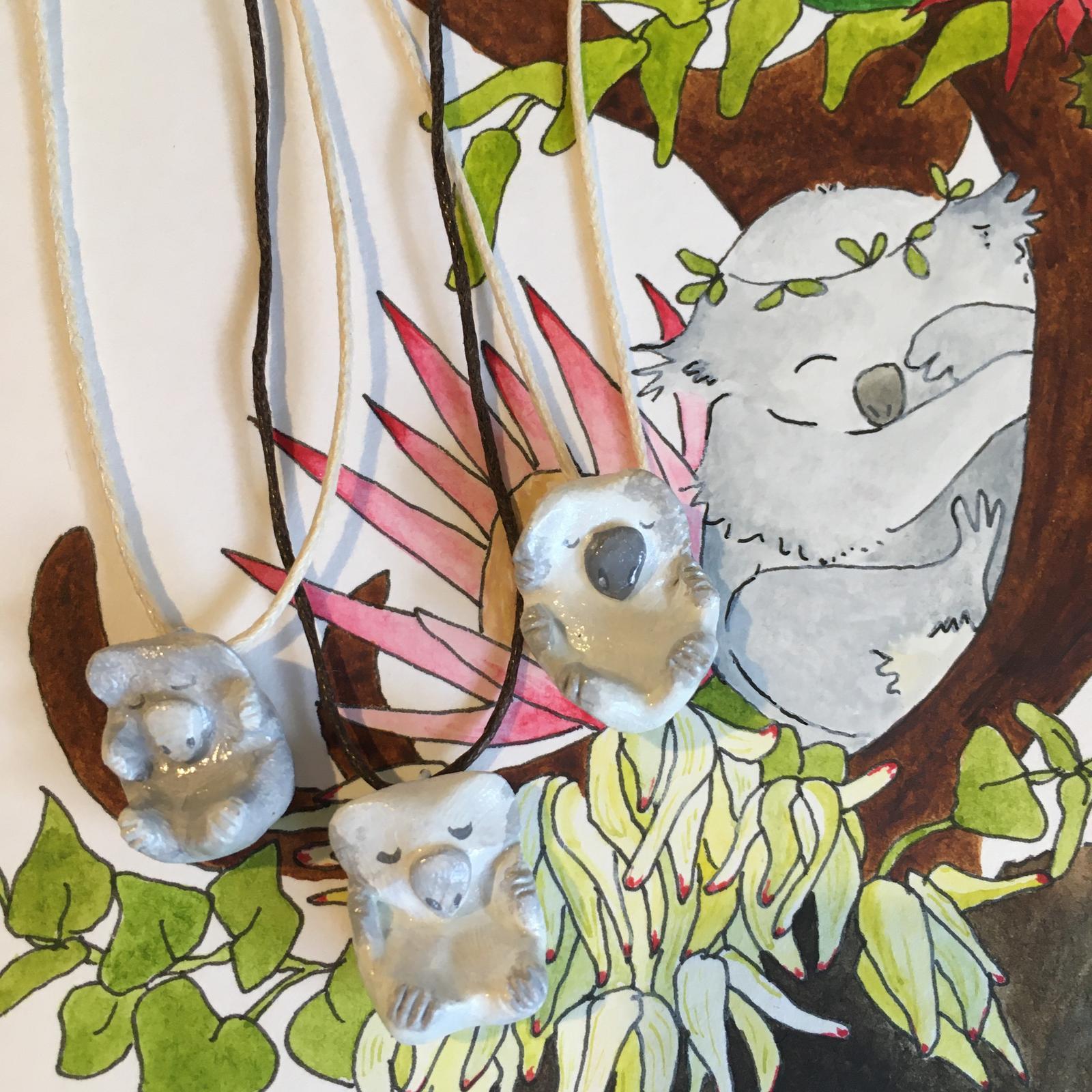 Koalas handmade with clay