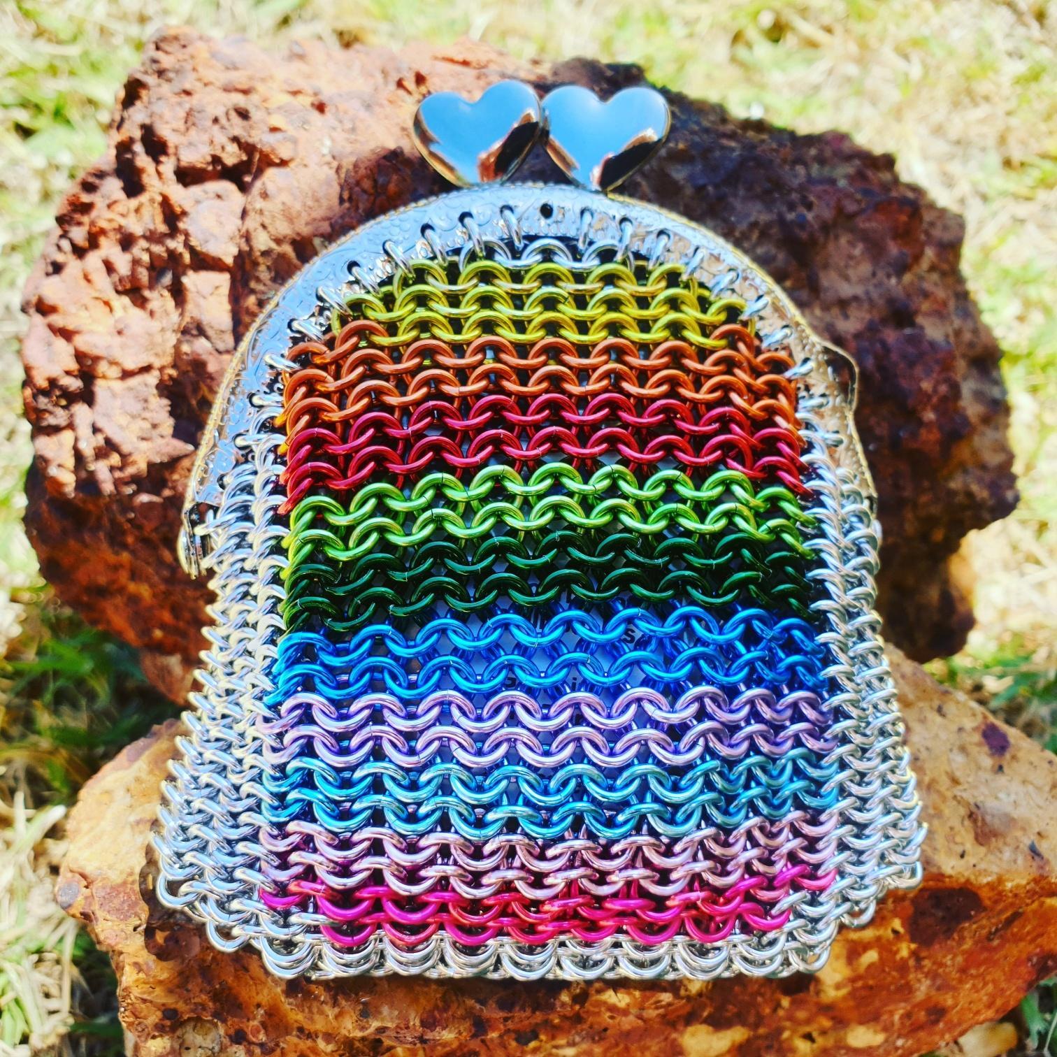 Rainbow purse