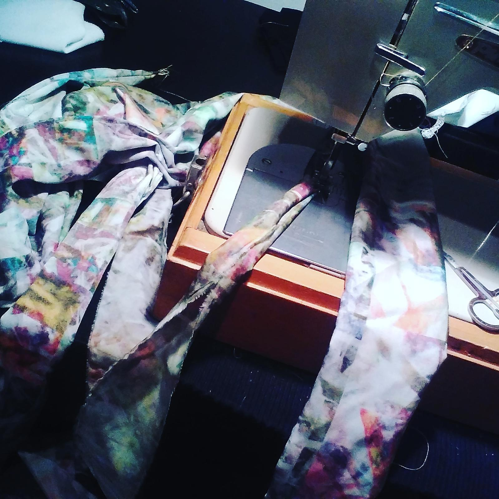 dress being created