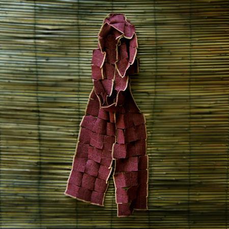 'yin' aubergine scarf