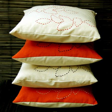 'foliage' cushion covers
