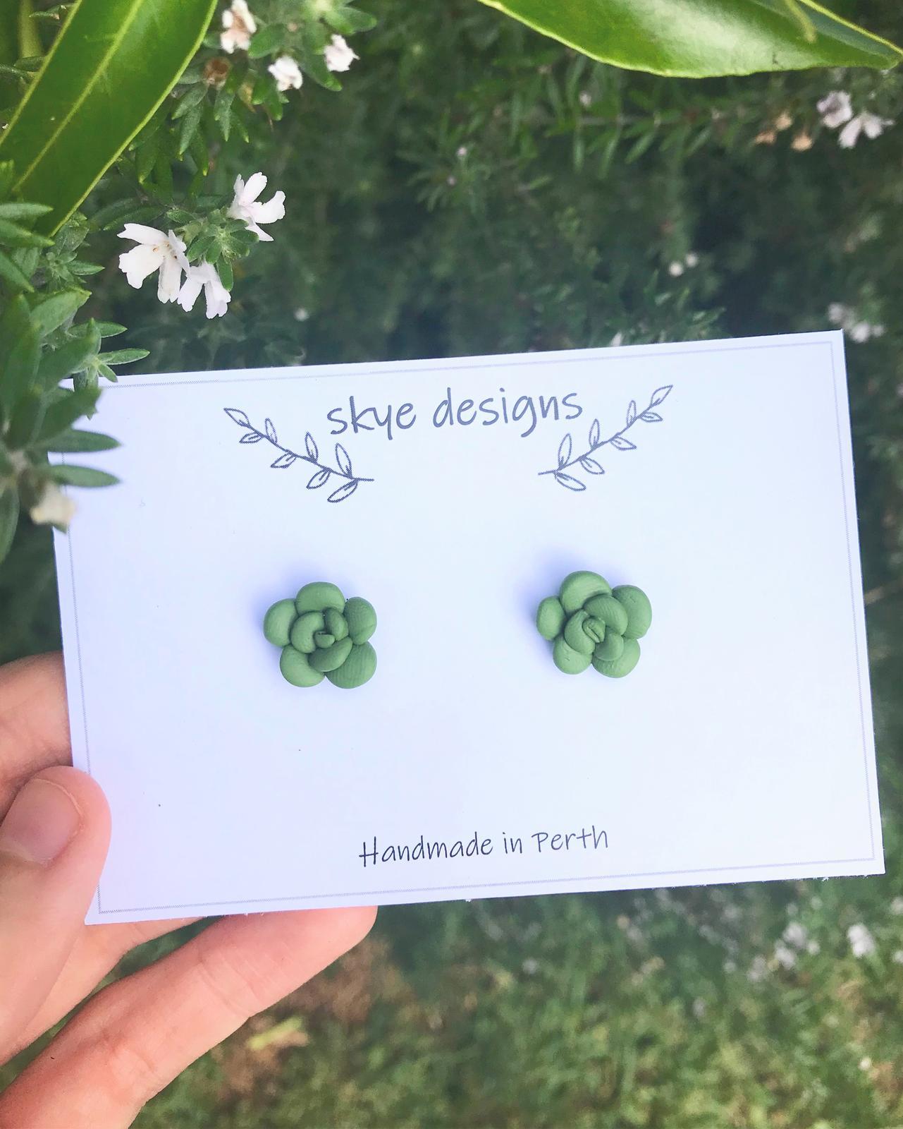 Stud Earrings - Succulents