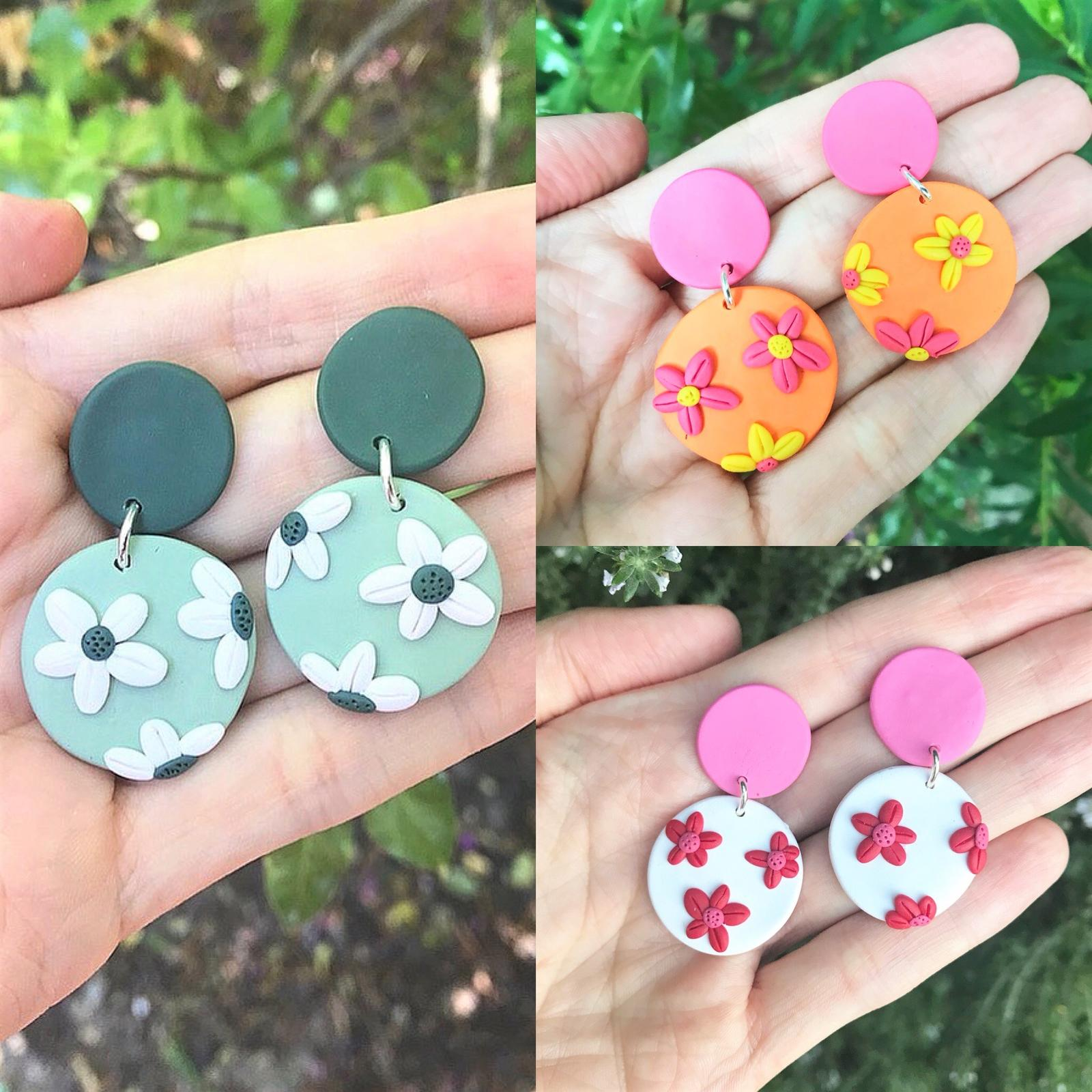 Polymer Clay Earrings - Flowers