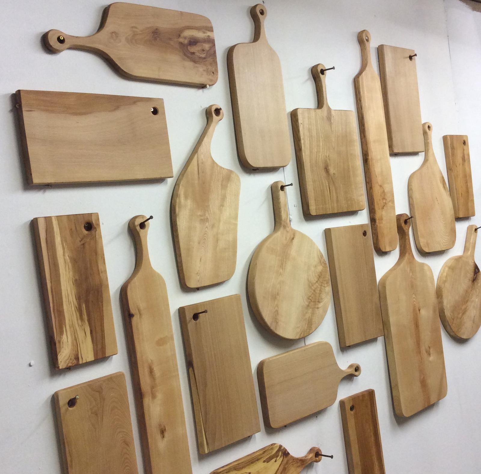 Shaped from selected pieces of solid wood