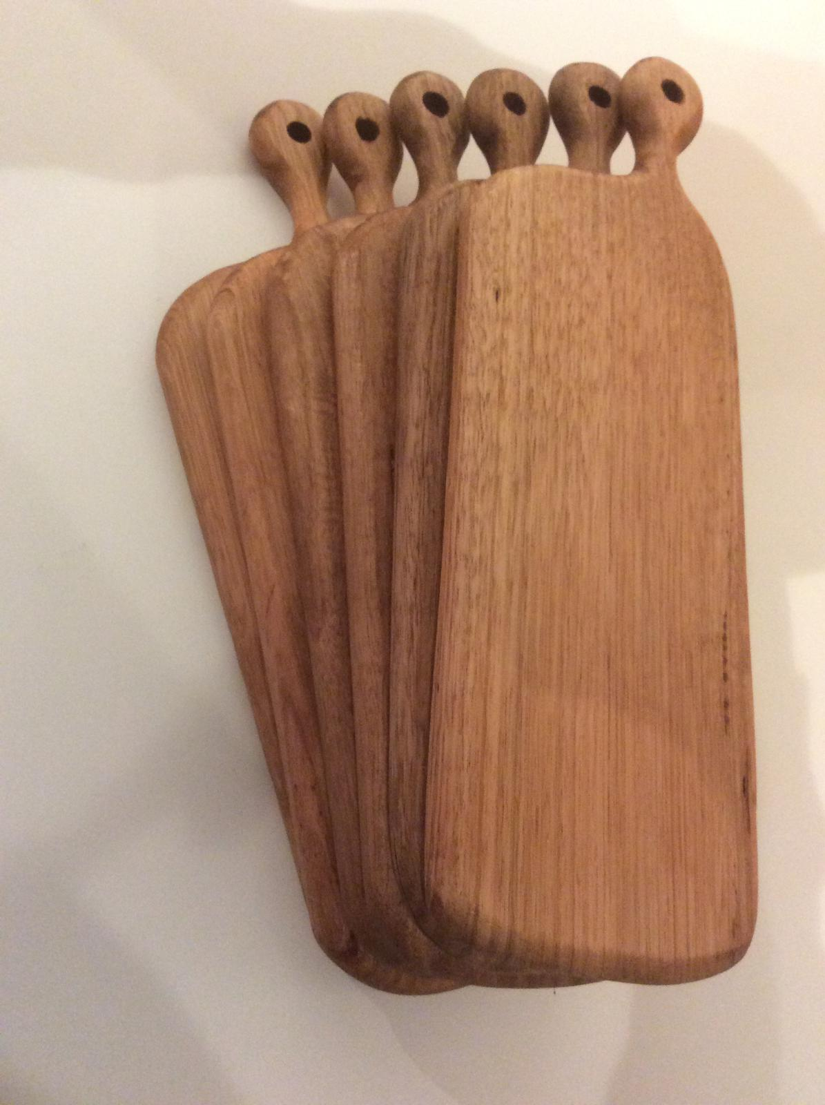 Set of small oak servers