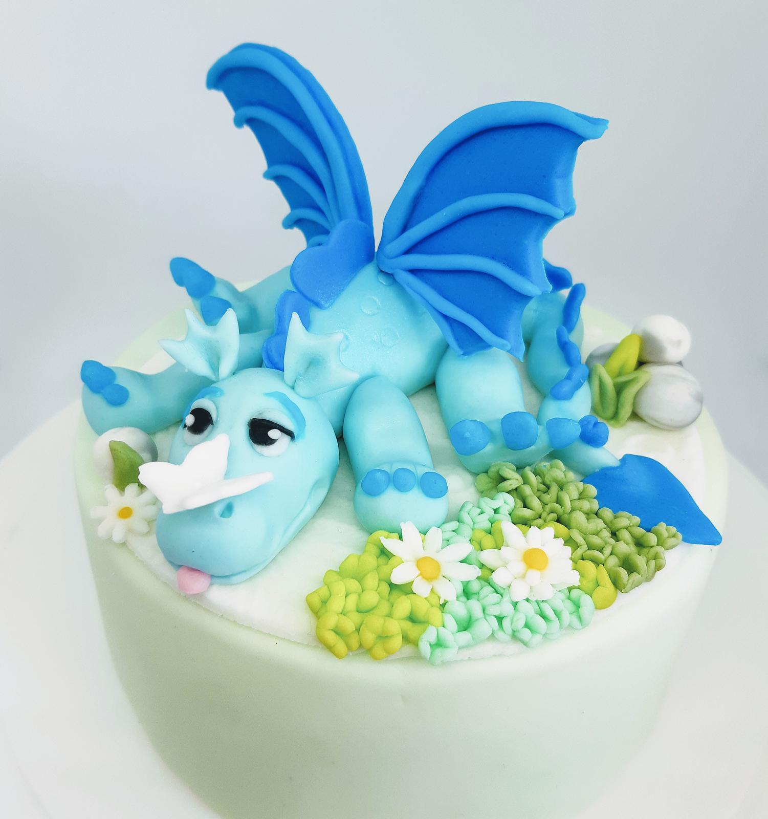 dragon fondant cake topper