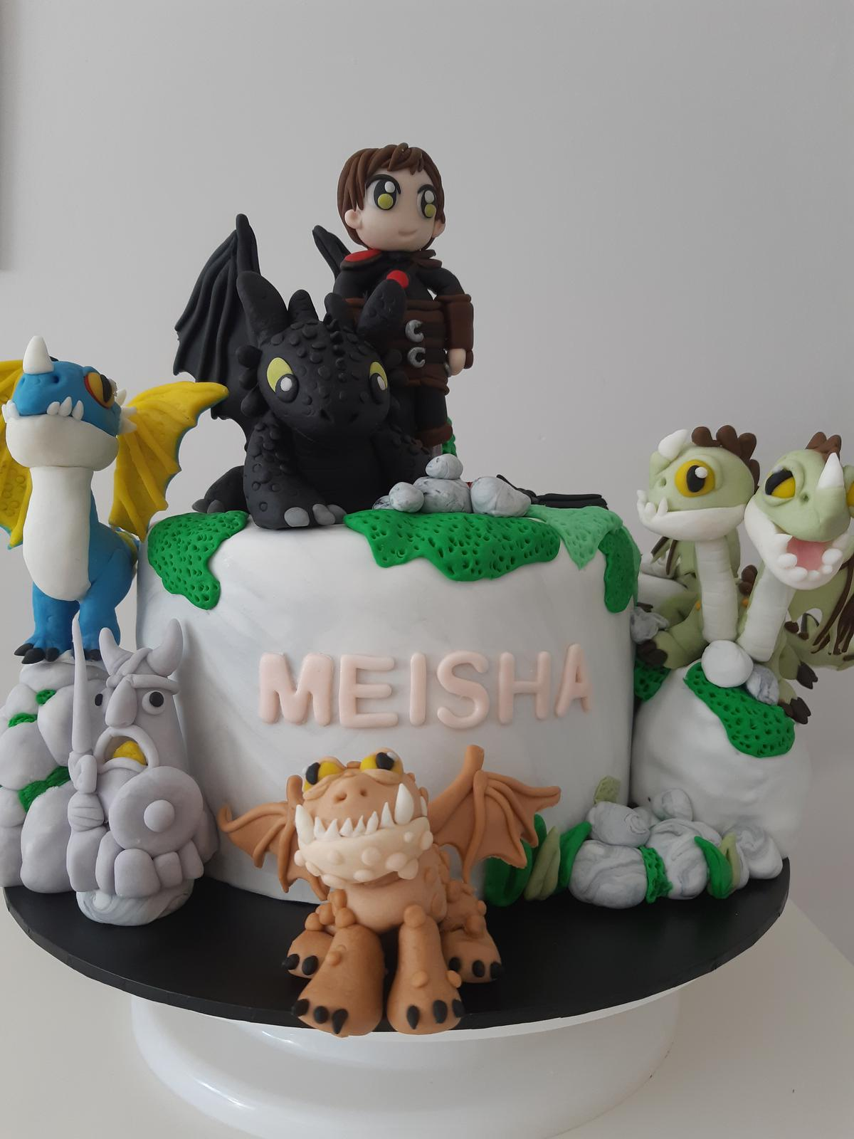 how to train your dragon fondant topper